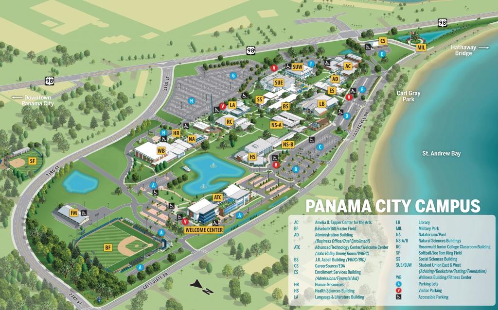 Gulf Coast State College | Campus Maps - Map Of Florida Beaches Gulf Side