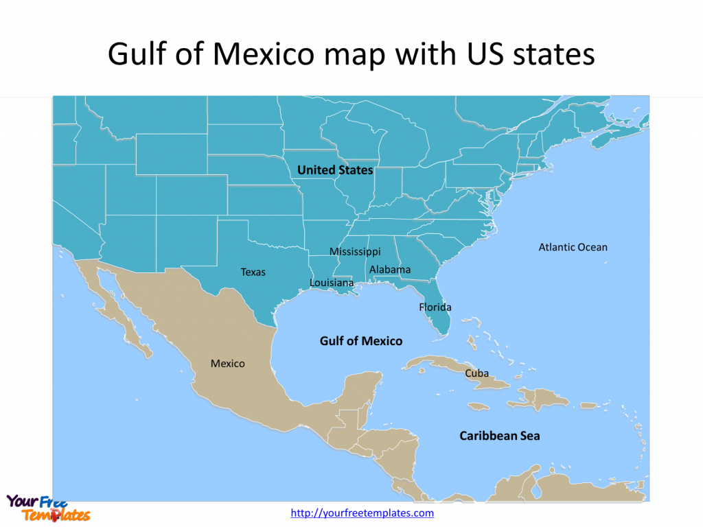Gulf Of Mexico Map Powerpoint Templates - Free Powerpoint Templates - Map Of Southwest Florida Gulf Coast