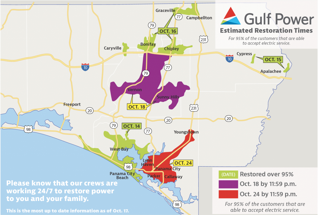 Gulf Power Customers 95% Restored In Caryville, Bonifay, Chipley - Map Chipley Florida
