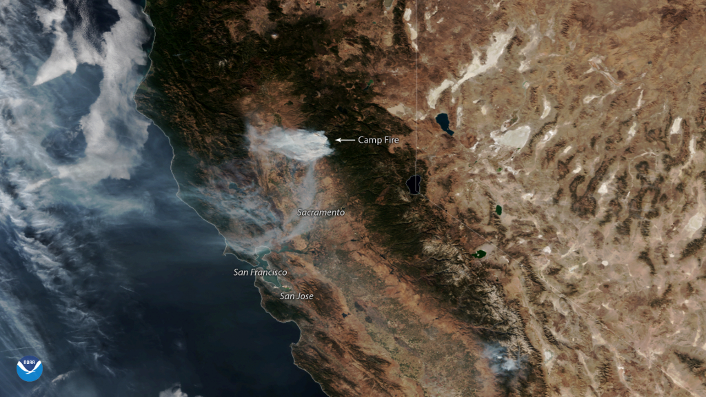Gusty Offshore Winds Continue To Fuel California Wildfires | Noaa - California Wildfire Satellite Map