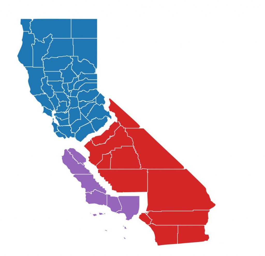 Had California Been 3 States In June's Primary, Here's Who Would - New California Map 3 States