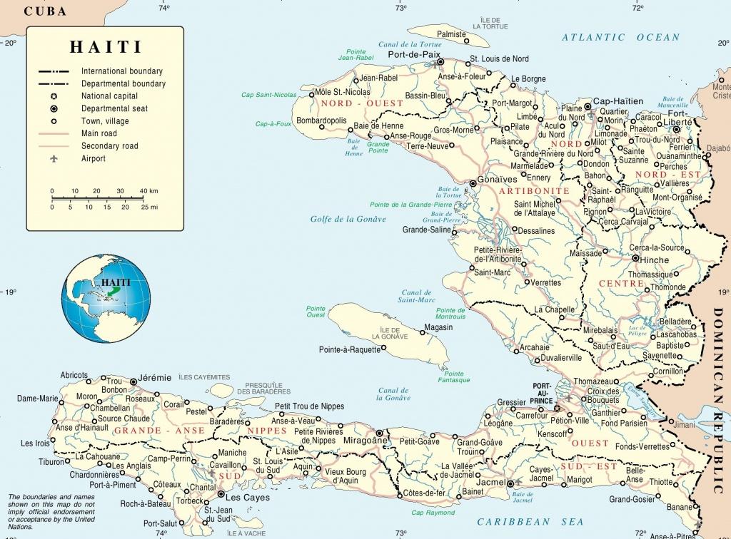 Haiti Maps | Maps Of Haiti - Printable Map Of Haiti