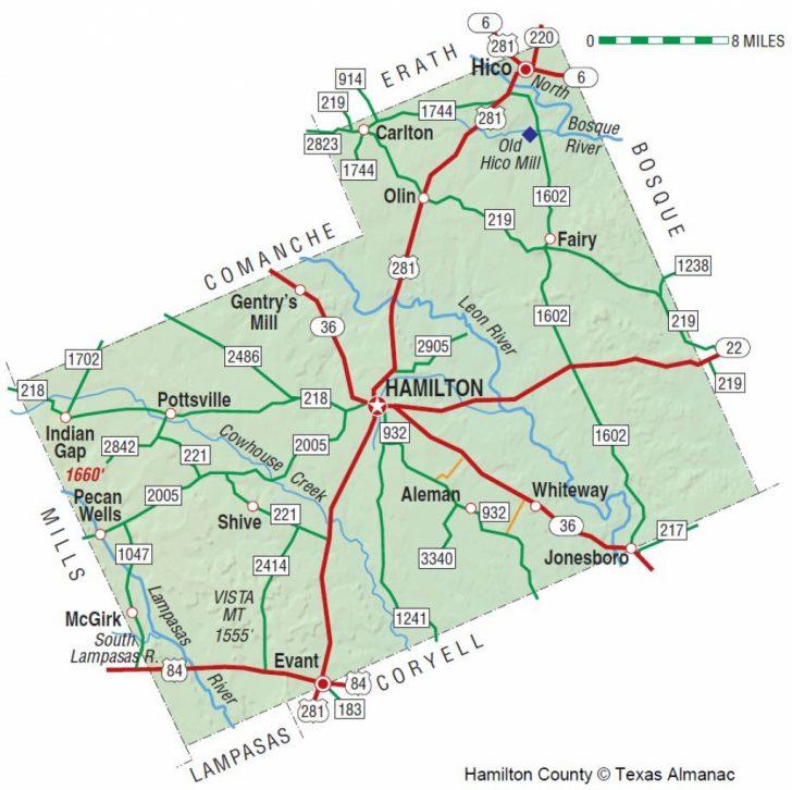 Erath County Texas Map