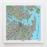 Hand Drawn Map Of Sydney Art Print | Art Prints, Stationery & Gifts - Printable Map Of Sydney