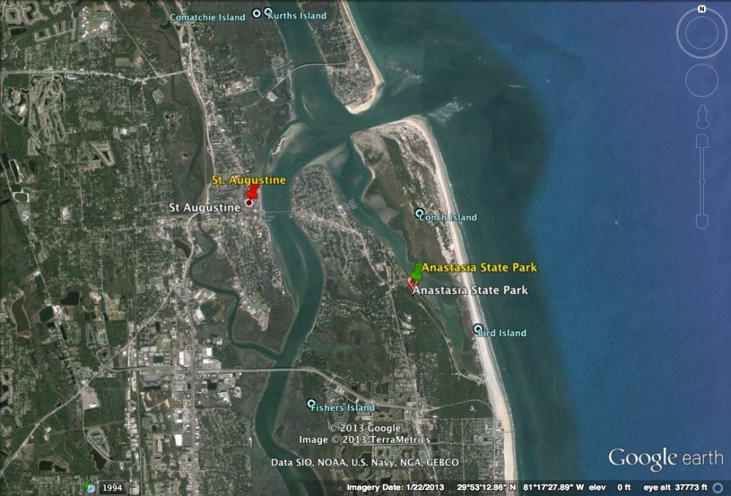 Happy 500Th Birthday Florida! | Homeless And Loving It! - Google Maps St Augustine Florida