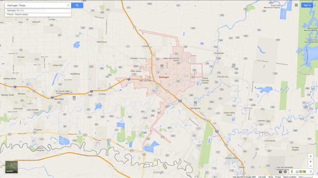Harlingen Texas Map - Google Maps Harlingen Texas
