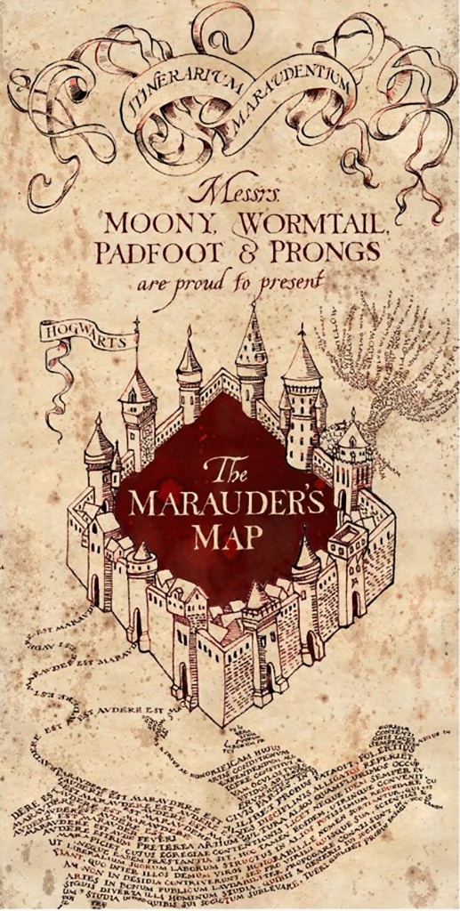 Harry Potter Marauders Map Printout Do You Have This In Your | I - Harry Potter Map Marauders Free Printable