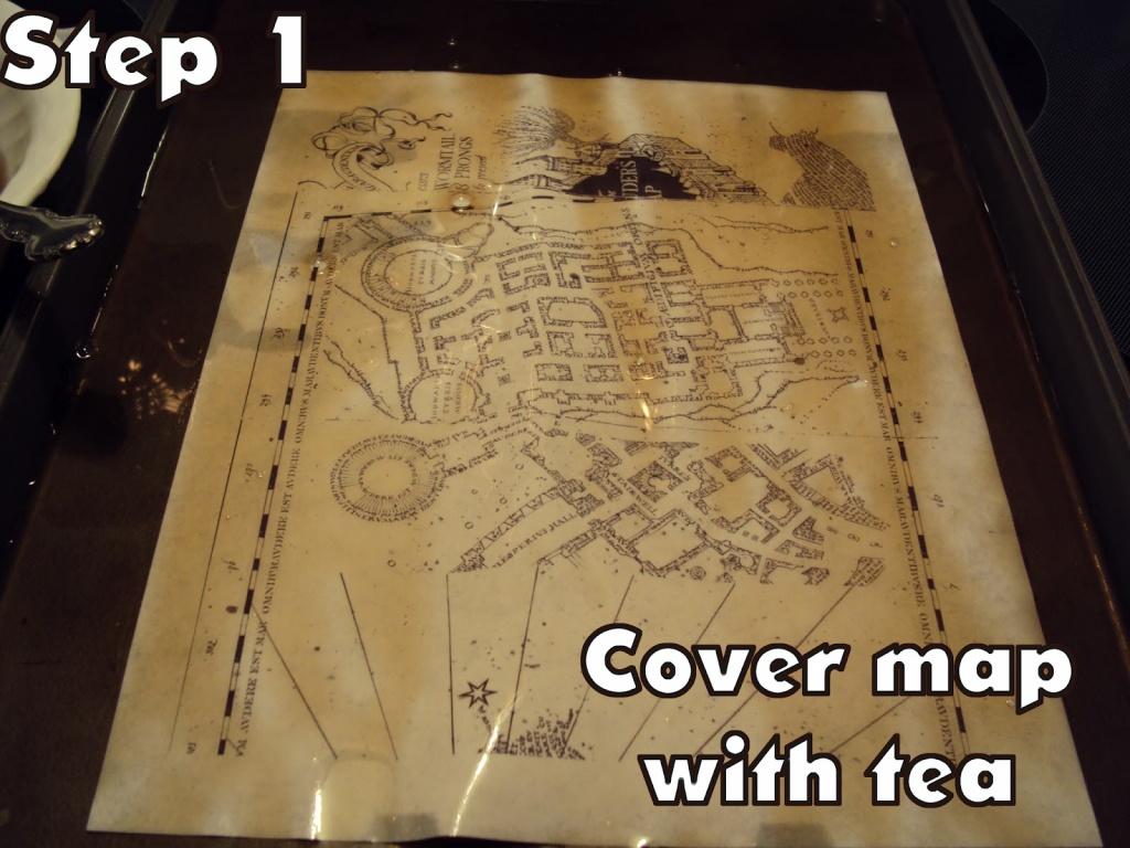 Harry Potter Paraphernalia: Marauder's Map: Inside And Outside - Harry Potter Map Marauders Free Printable