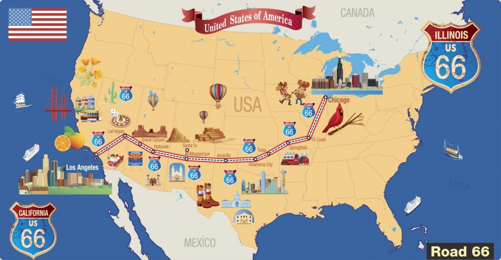Haunted Road Trip On Route 66 | Lovetoknow - Map Of Route 66 From Chicago To California
