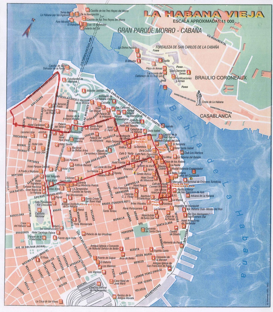Havana Guide | Casa Havana - Havana City Map Printable