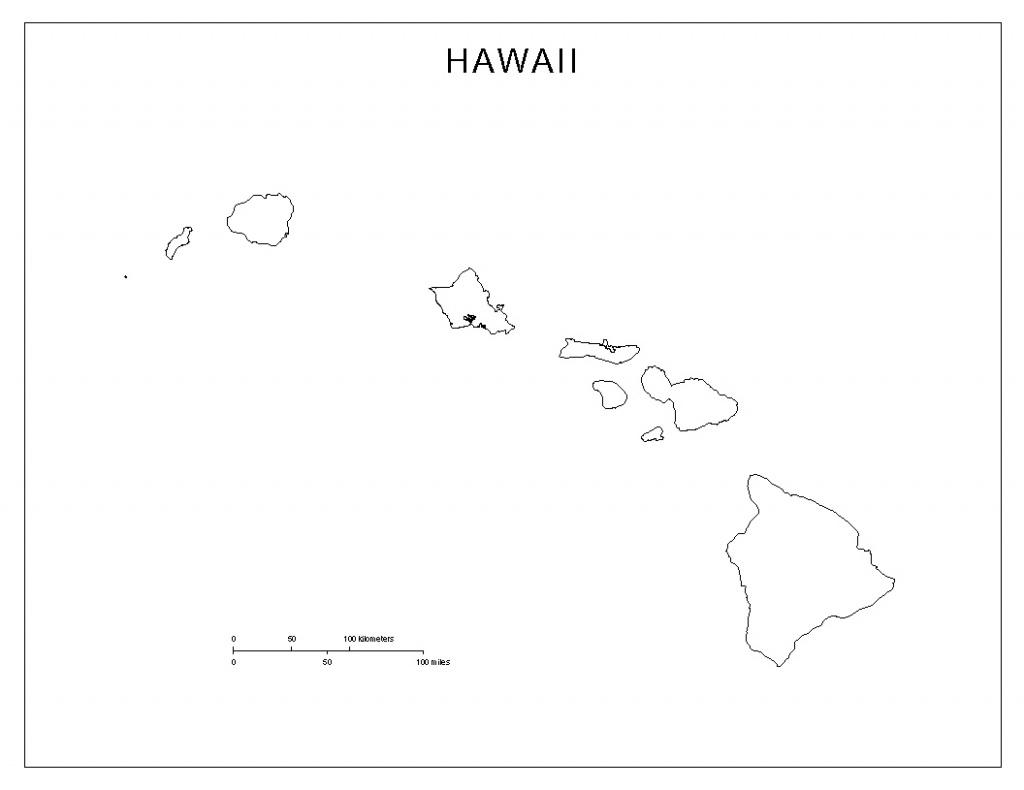 Hawaii Blank Map - Printable Map Of Hawaiian Islands