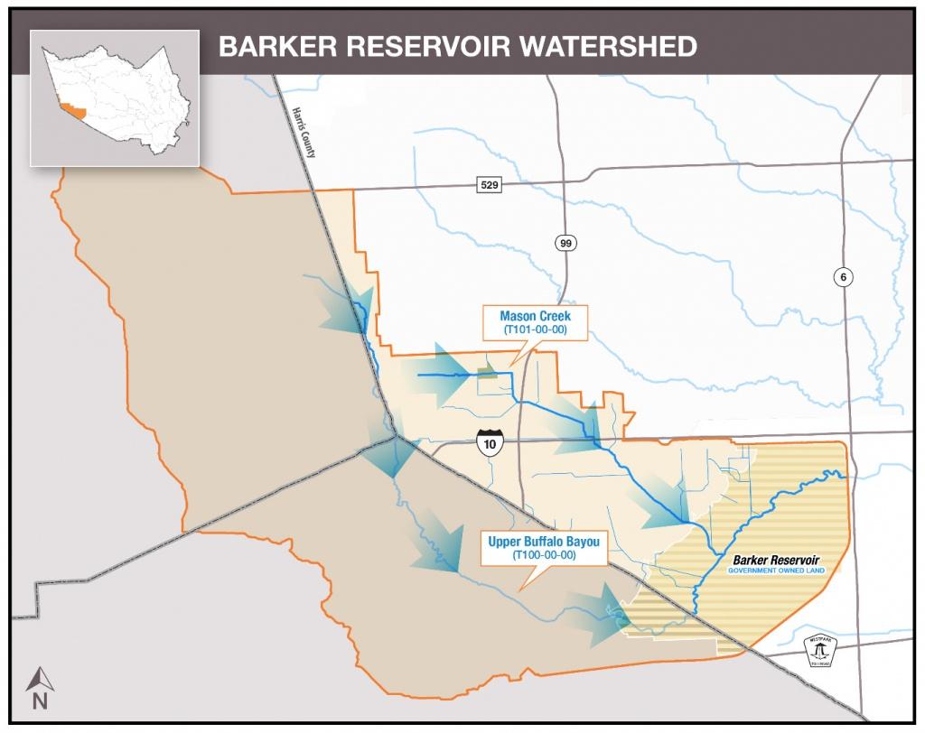 Hcfcd - Barker Reservoir - Barker Texas Map