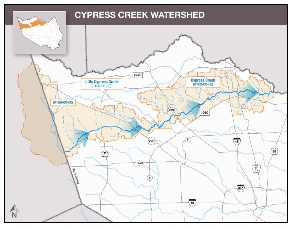 Hcfcd - Cypress Creek - Texas Waterways Map