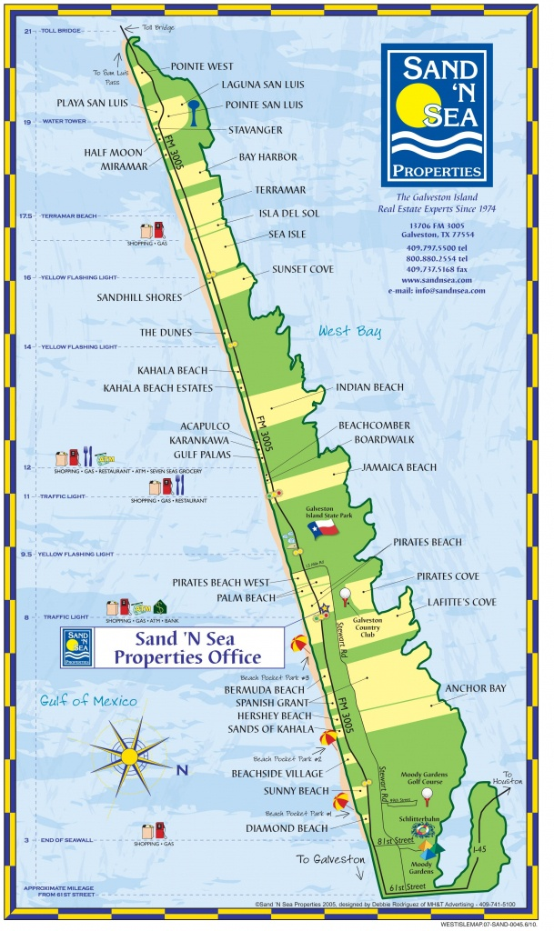 Helpful Map Of The West End - Plus Pocket Parks And Landmarks - Texas Galveston Map