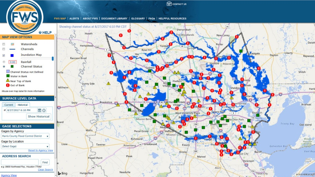 Here's How The New Inundation Flood Mapping Tool Works - Harris County Texas Flood Map