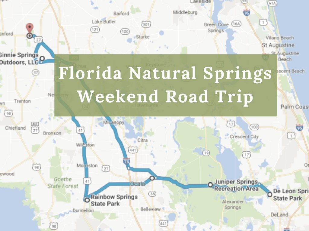 Here's The Perfect Weekend Itinerary If You Love Exploring Florida's - Map Of Natural Springs In Florida