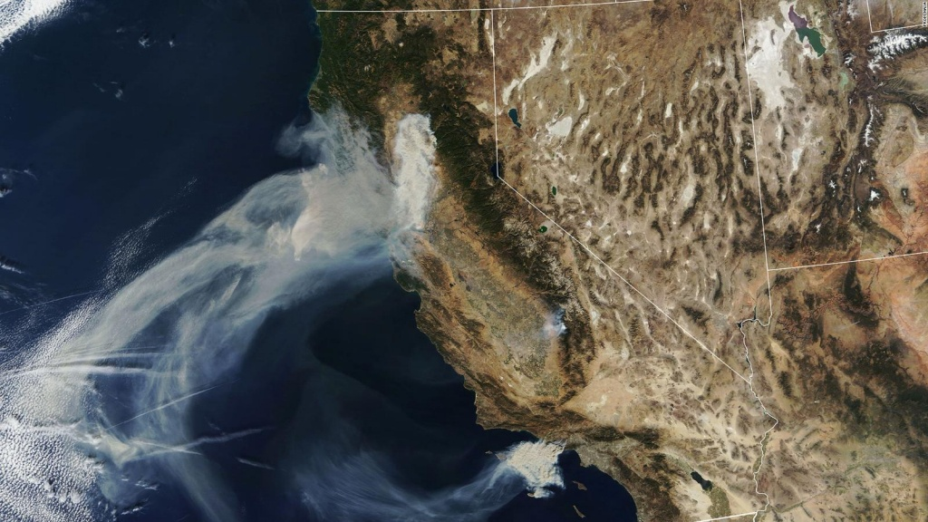 Here's What California's Wildfires Look Like From Space - Cnn - California Wildfire Satellite Map