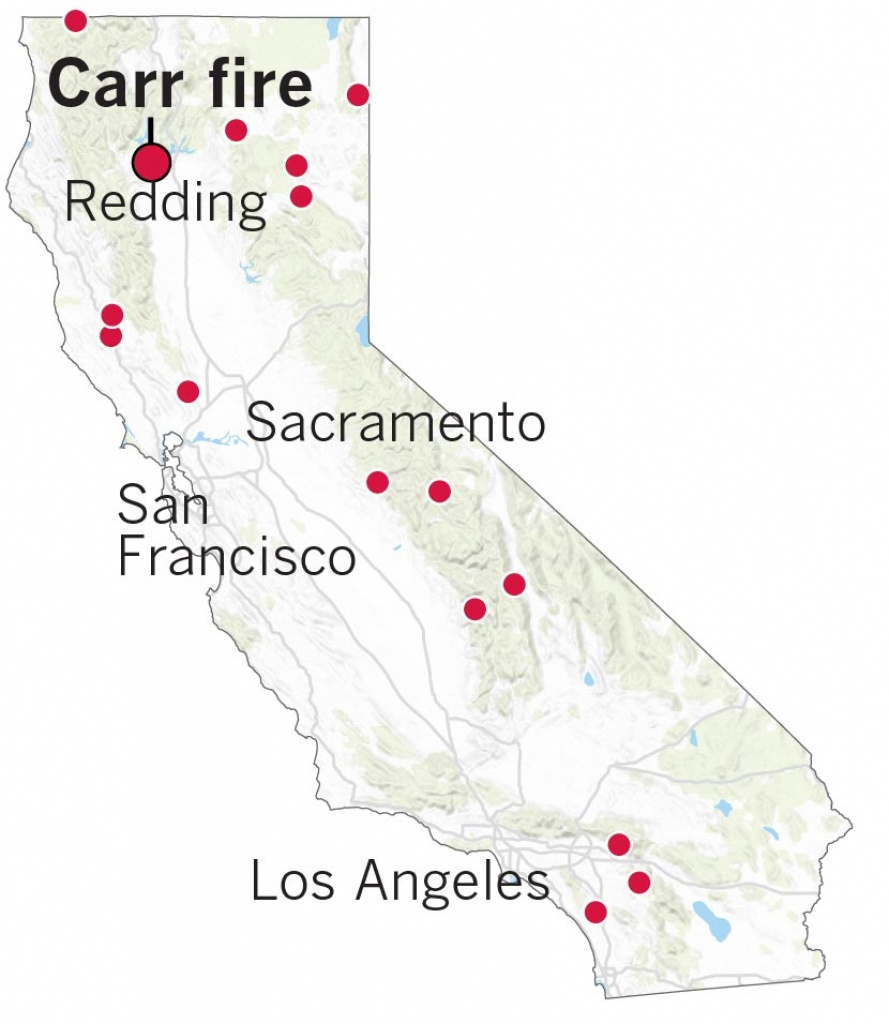 Here's Where The Carr Fire Destroyed Homes In Northern California - California Fires Update Map