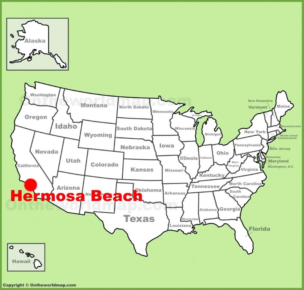 Hermosa Beach Location On The U.s. Map - Hermosa Beach California Map