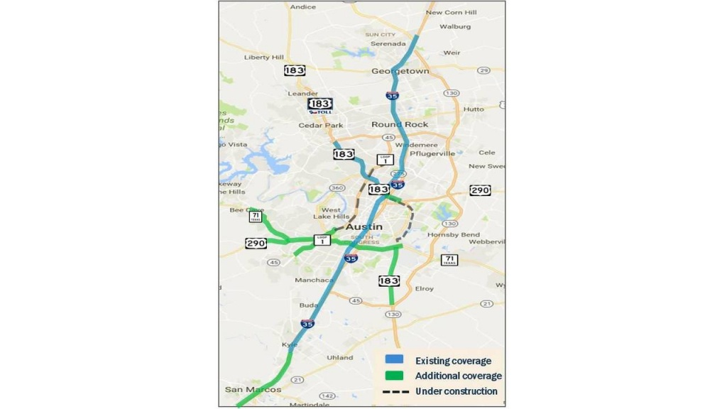 Hero Program Expands On Central Texas Highways Monday - I 35 Central Texas Traffic Map