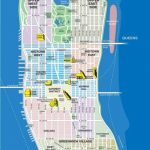 High Resolution Map Of Manhattan For Print Or Download | Usa Travel   Manhattan City Map Printable