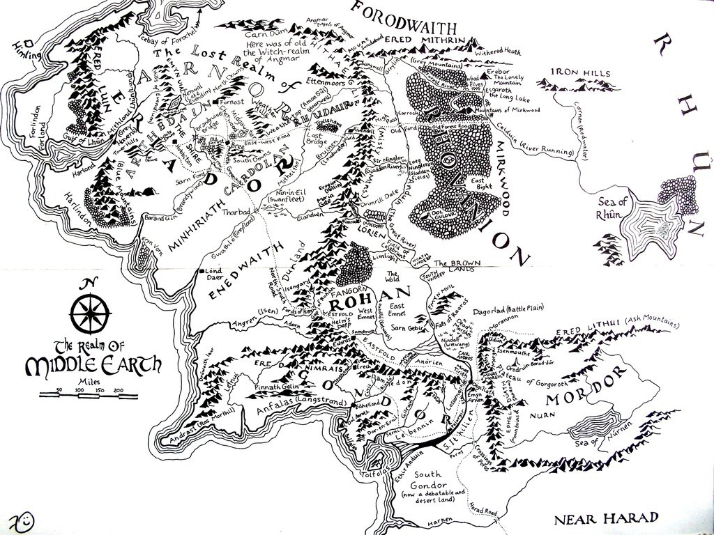 High Resolution Map Of Middle-Earth? : Lotr - Printable Lord Of The Rings Map