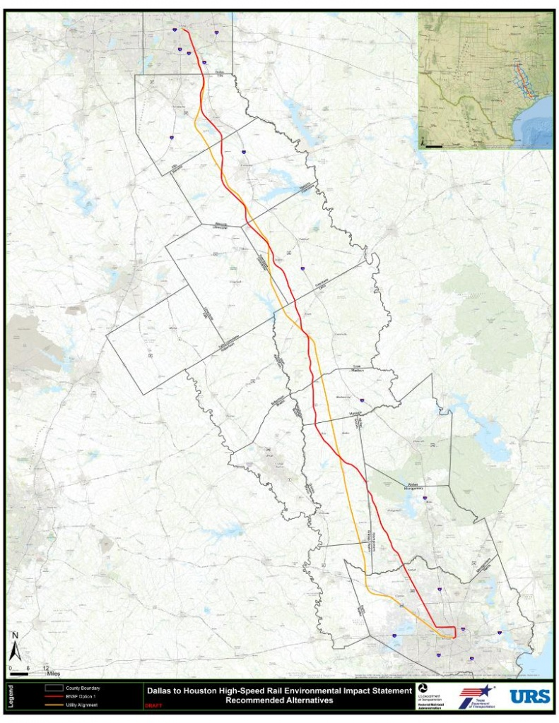 "High Speed Rail Project Moving Forward With New Focus On ""utility - Texas High Speed Rail Map"