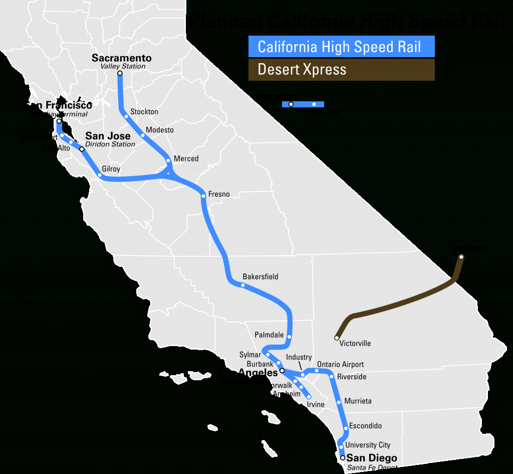 High Speed Rail To Las Vegas Breaks Ground 2017 - Canyon News - California Train Map