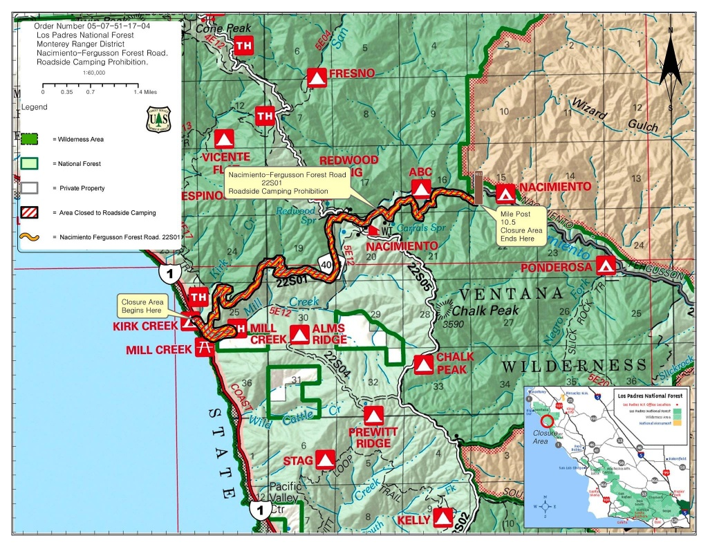 Highway 1 Conditions In Big Sur, California - Highway 1 California Map
