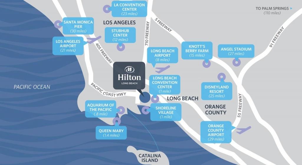 Hilton Long Beach Hotel, Ca - Booking - Map Of Hilton Hotels In California