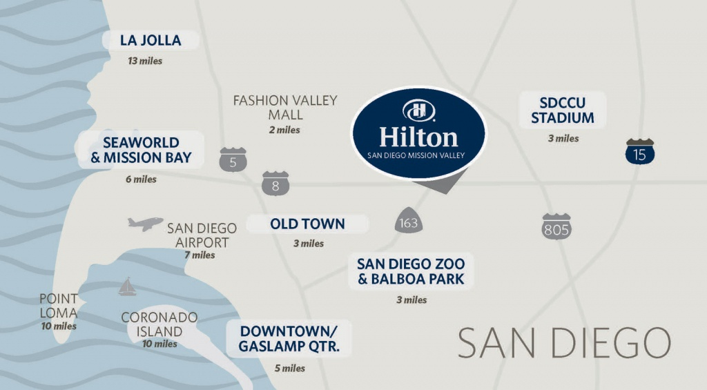 Hilton Mission Valley San Diego Hotel   Hotels In Mission Valley San - Map Of Hilton Hotels In California
