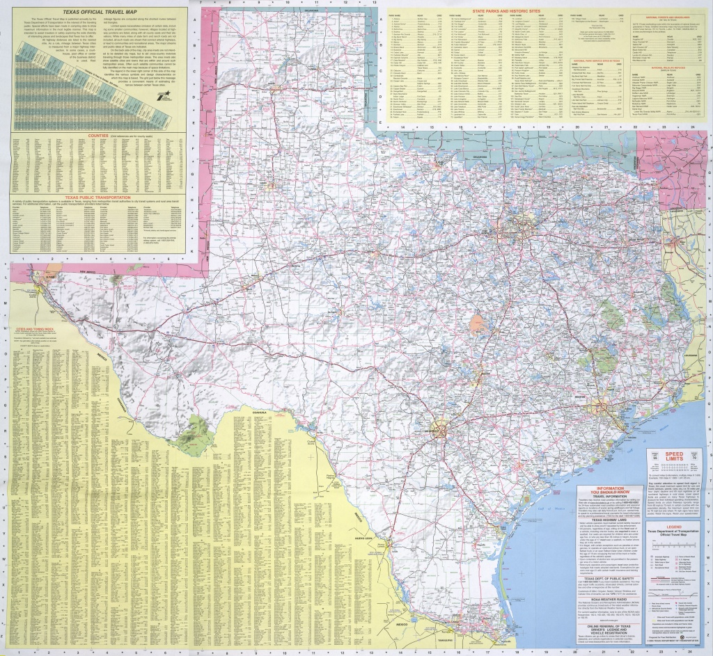 Historic Road Maps - Perry-Castañeda Map Collection - Ut Library Online - Official Texas Highway Map