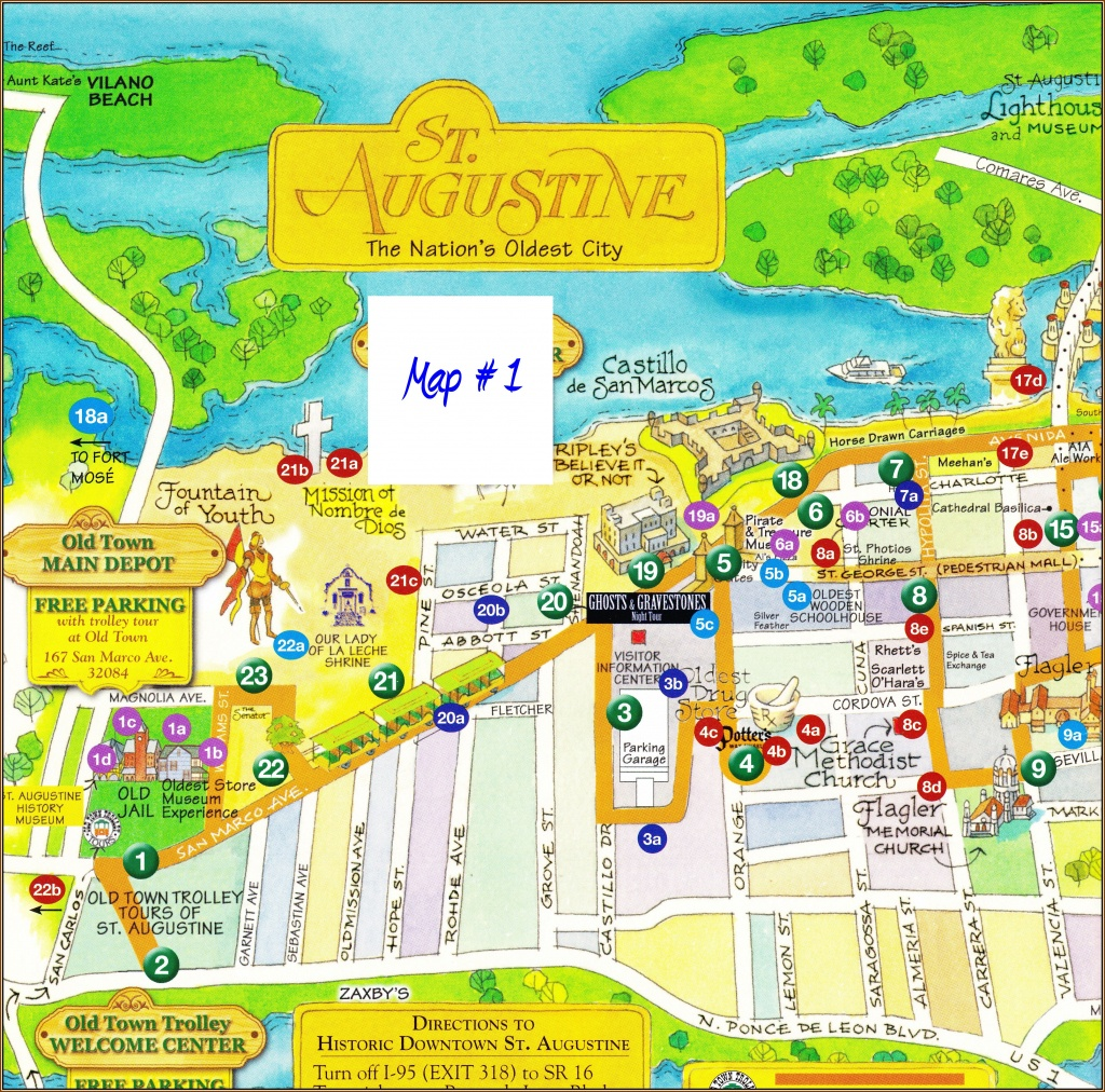 Historic St. Augustine, Fl — Part 1 | Stan's Paradise Report - St Augustine Florida Map Of Attractions