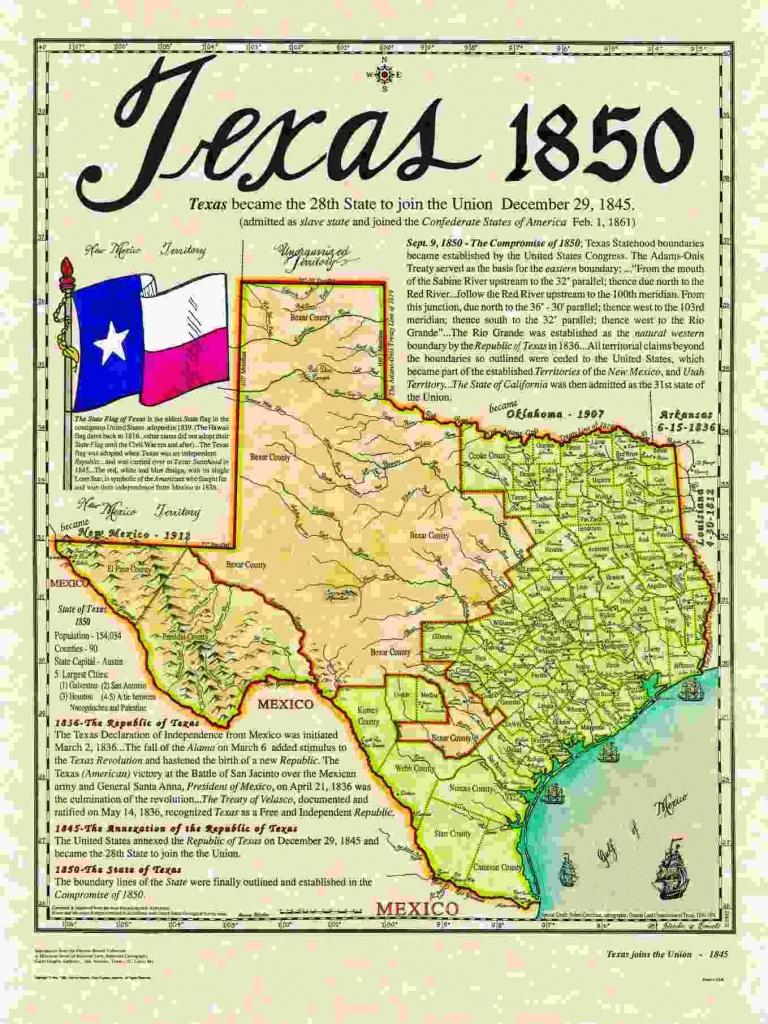 Historical Texas Maps, Texana Series | Texas History | Texas, Texas - Texas Map 1850