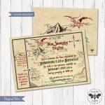 Hobbit Map Birthday Invitation Printable / Digital Smaug | Etsy   Printable Hobbit Map