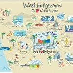 Hollywood Map | Trip | West Hollywood California, Los Angeles Travel   Map Of West Hollywood California