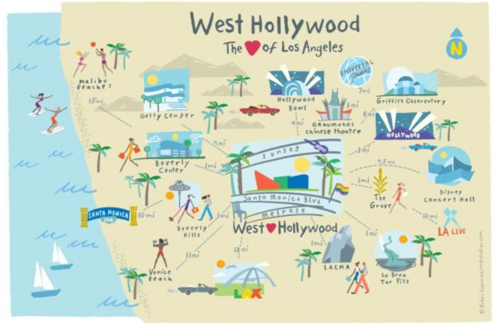 Hollywood Map | Trip | West Hollywood California, Los Angeles Travel - Map Of West Hollywood California