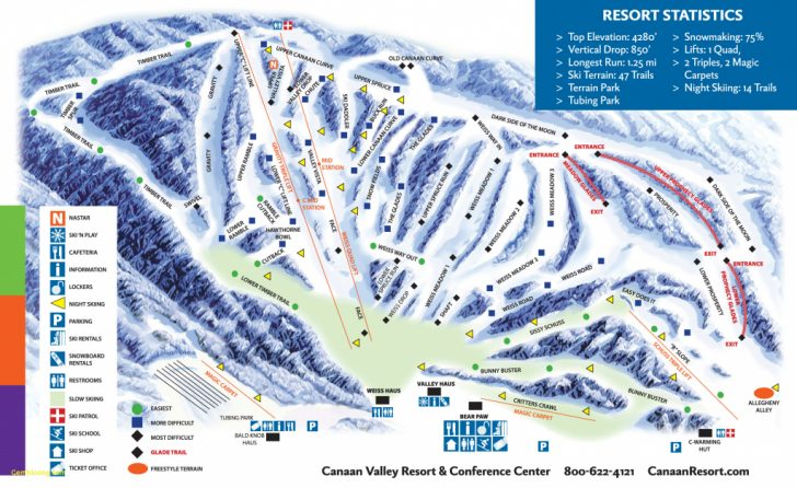 Southern California Ski Resorts Map