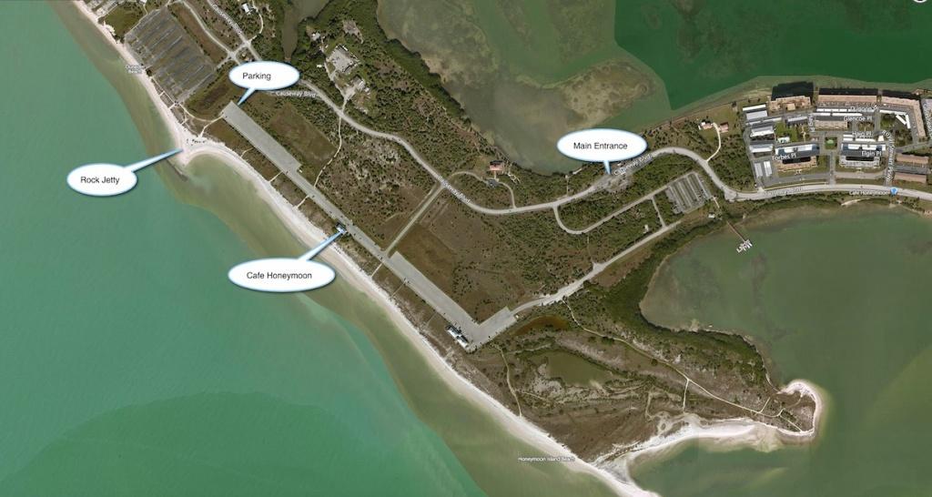 Honeymoon Island - Florida Beach Weddings   Destination Weddings - Honeymoon Island Florida Map