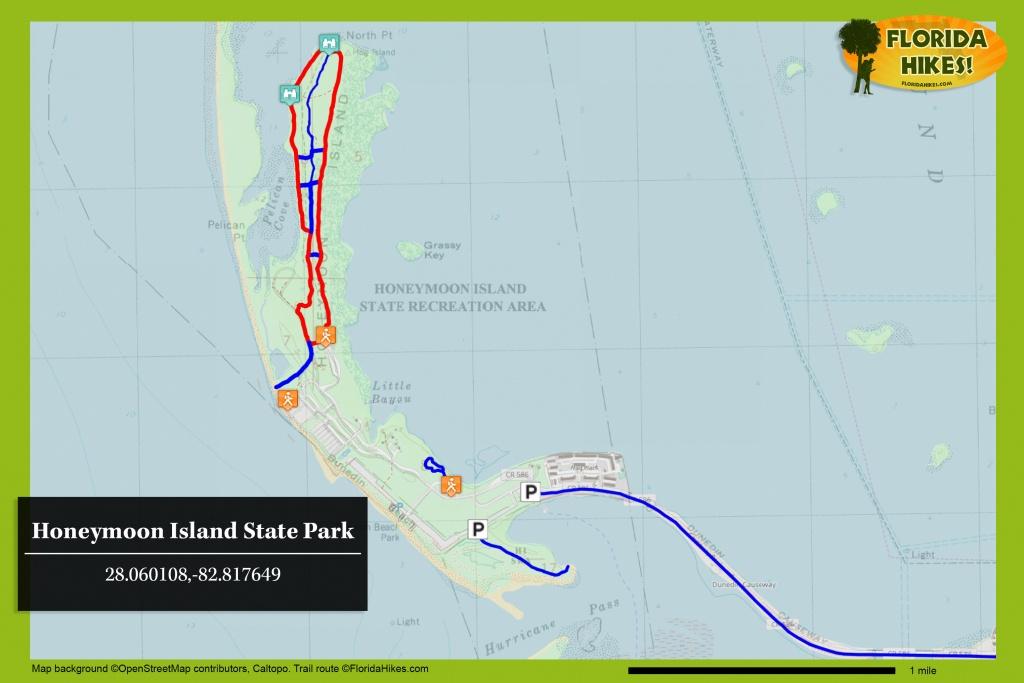 Honeymoon Island State Park   Florida Hikes! - Honeymoon Island Florida Map
