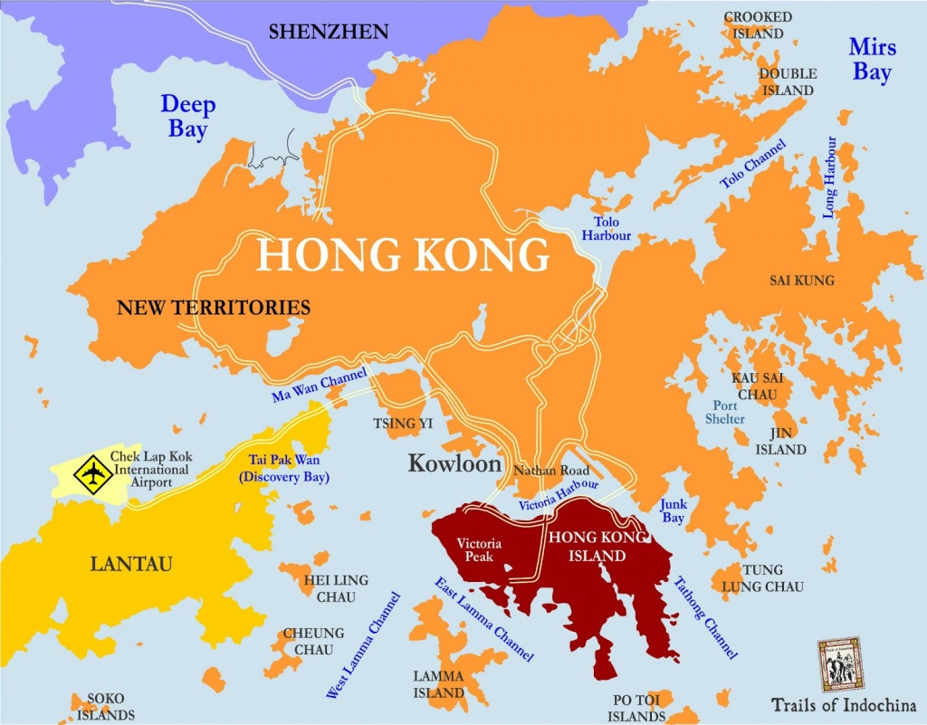 Hong Kong And China Map Printable | Hong Kong Mtr Map, Subway, Metro - Printable Map Of Hong Kong