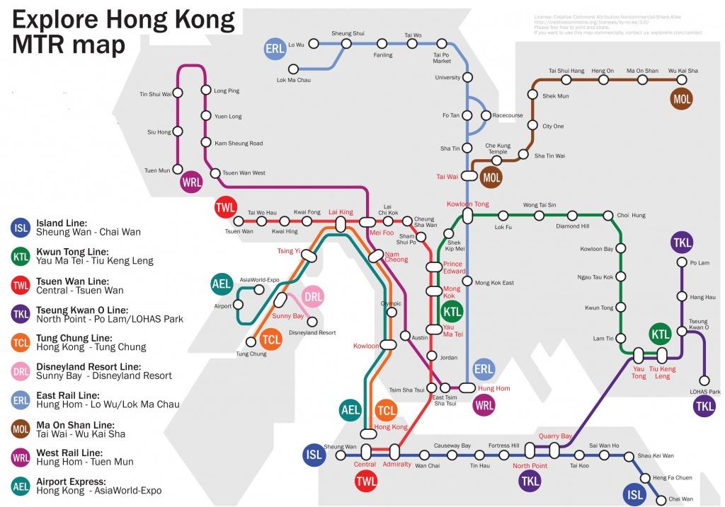 Hong Kong Mtr Map 2012-2013   Printable Hk & Kowloon Subway And - Hong Kong Tourist Map Printable