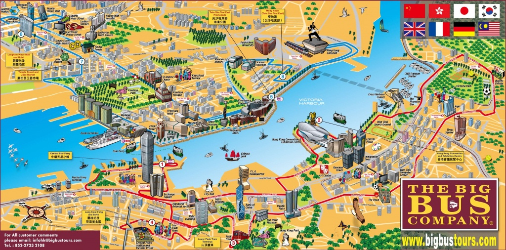Hong Kong Tourist Map - Hong Kong Tourist Map Printable