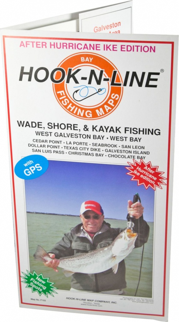 Hook-N-Line Map F103 Wade Fishing Map Of West Galveston Bay (With - Texas Wade Fishing Maps