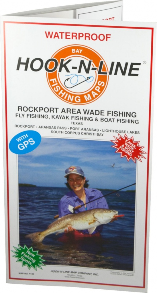 Hook-N-Line Map F130 Rockport Wade Fishing Map (With Gps) - Austinkayak - Rockport Texas Fishing Map