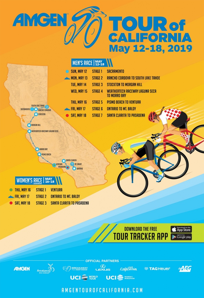 Host City Overview | Amgen Tour Of California - Tour Of California 2018 Map