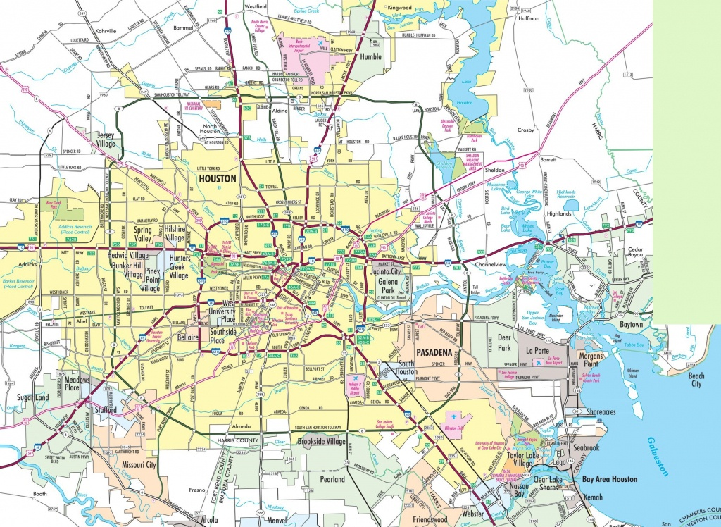 Houston Area Road Map - Street Map Of Houston Texas
