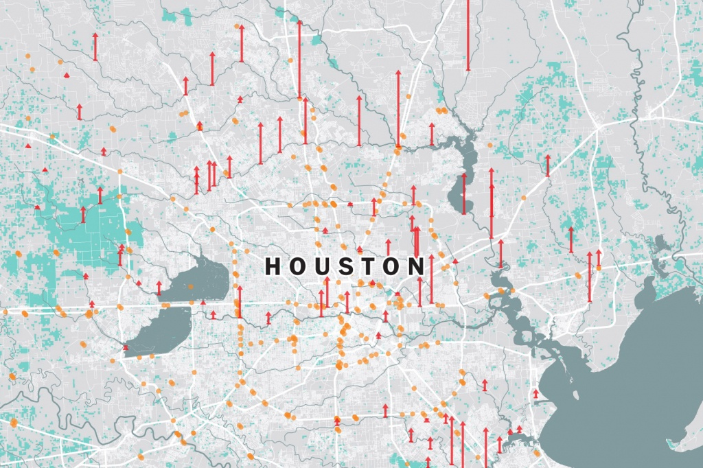 Houston Flooding Map: The Effect Of Harvey On Texas And Louisiana - Houston Texas Flood Map