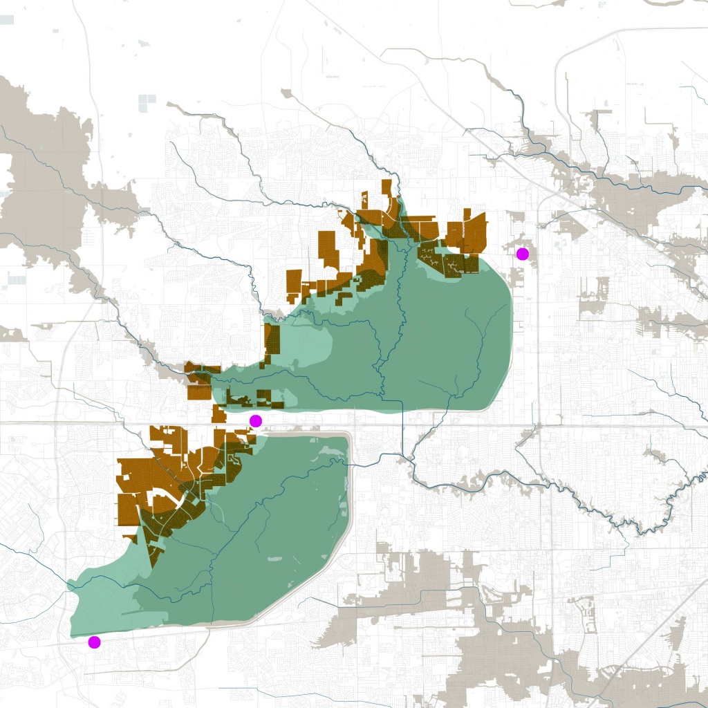 Houston's Big Dams Won't Fail. But Many Neighborhoods Will Have To - Barker Texas Map