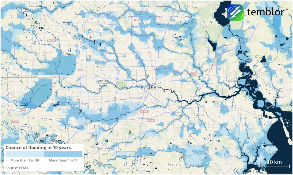 How Accurate Were The Flood Risk Maps? (Houston, West: Insurance - Houston Texas Floodplain Map